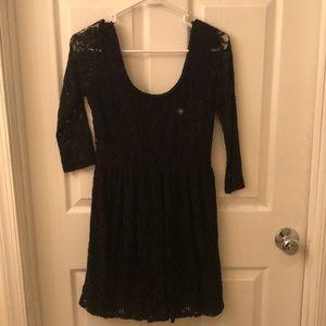 Mid sleeve mini lace dress